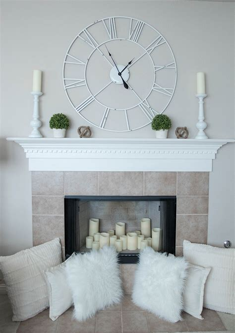 how to decorate fire place how to decorate a fireplace mantle for spring life by lee