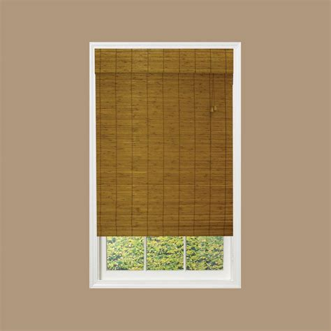 hton bay caramel simple weave flatstick bamboo