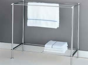 free standing towel racks for bathroom with white color