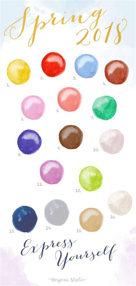 Pantone Spring Colors 2017 by Spring 2018 Color Report Color Palette No 107 Elegant
