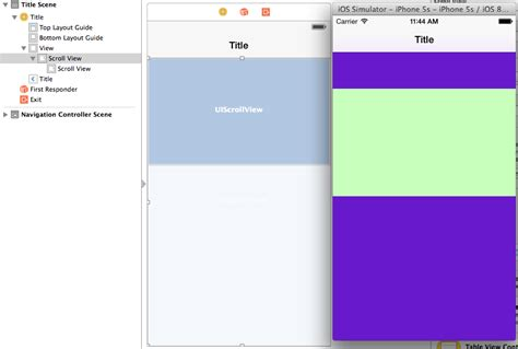 xcode uiscrollview tutorial storyboard ios why the layout is different between storyboard and