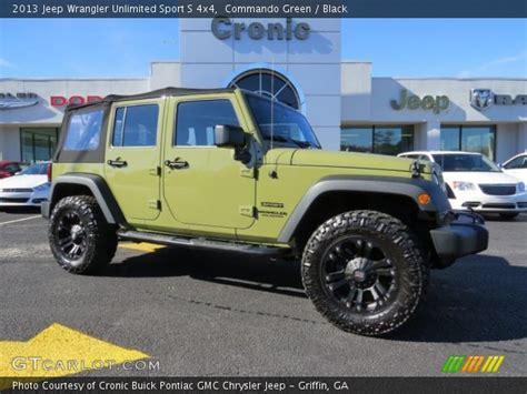 jeep wrangler commando commando green jk unlimited