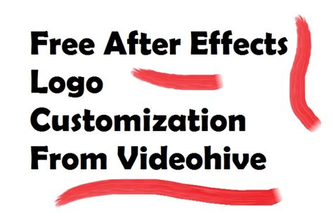 how to get free videohive templates free after effects logo reveal customization videohive