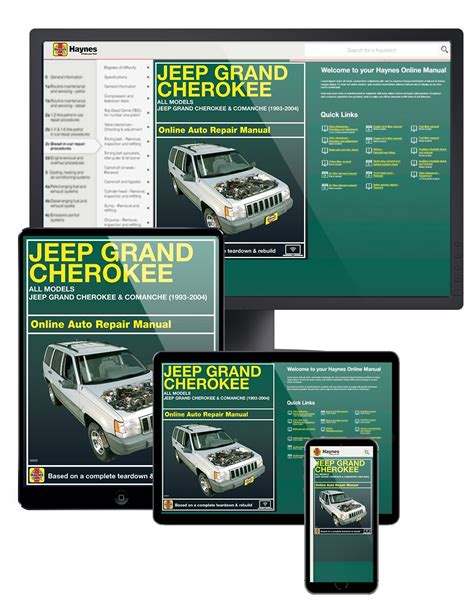 online car repair manuals free 2012 jeep grand cherokee user handbook jeep grand cherokee 93 04 haynes online manual haynes manuals