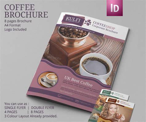 coffee shop brochure template coffee shop brochure template modern design on behance