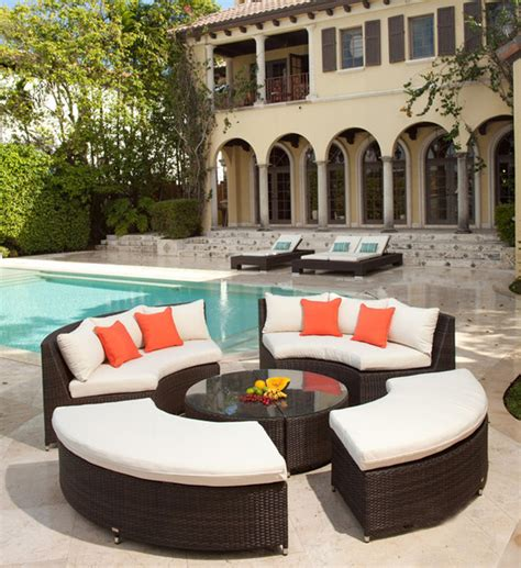 Circular Patio Furniture by Modern Circular Wicker Sectional For The Patio