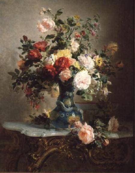 vase of roses and other flowers marc laurent bruyas as