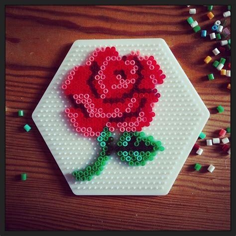 perler bead flower designs flower hama perler by ulrikamkarlsson perler