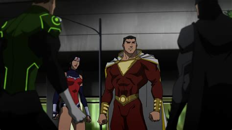 justice league war film series see shazam revealed aquaman s replacement in justice