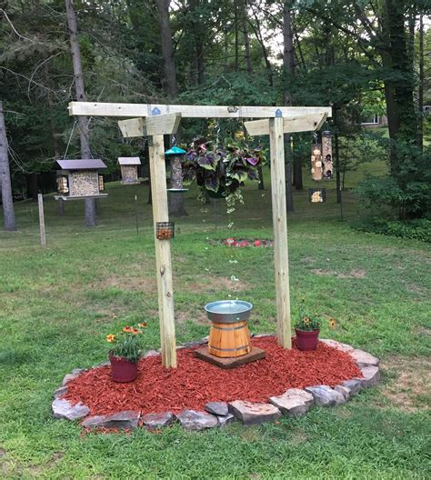 backyard feeders new bird feeder station yard projects pinterest bird