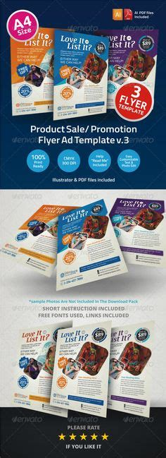 Eye Catching Brochure Flyer And Print Ad Templates For An Advertising Company Stocklayouts Product Sale Flyer Template