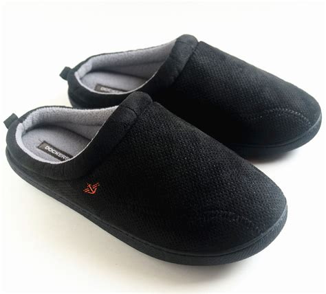 mens xl slippers dockers s sporty microsuede with memory foam clog