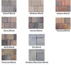 pavestone colors concrete pavers az landscape creations