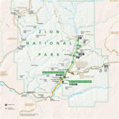 zion park map zion national park official map my utah parks