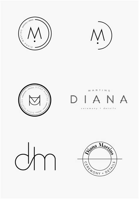 design minimalist logo new in portfolio diana martins minimal logo diana and