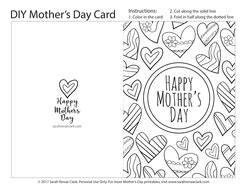 colorable mothers day card template s day printable coloring card pdf printable card