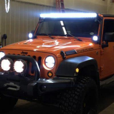 Jeep Wrangler Led Light Bar 2009 Jeep Wrangler Jk Led Light Bar With Mounting Brackets A1287b56254 Topgearautosport
