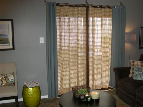 covering perplexing patio doors with pretty treatments