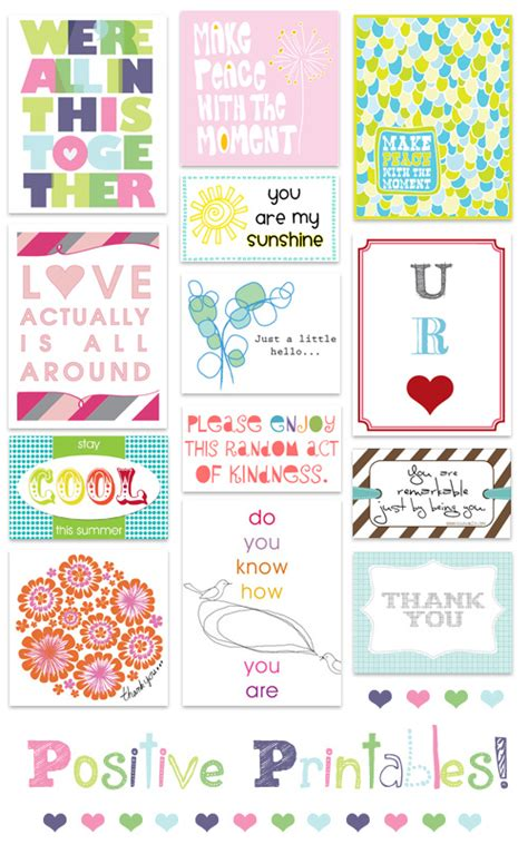 Task Cards Template For Affirmations by A Thing To Do Positive Printables Matter