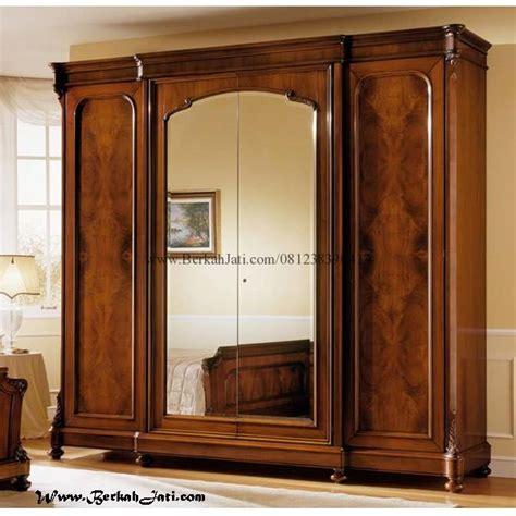 Lemari Pakaian Empat Pintu lemari minimalis pakaian pintu empat berkah jati furniture berkah jati furniture