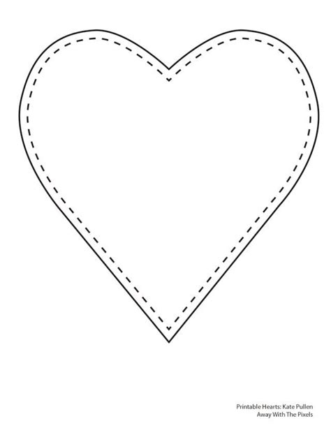 17 best ideas about heart template on pinterest