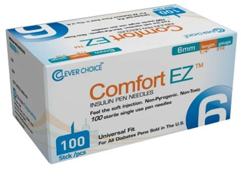 comfort ez pen needles clever choice comfort ez syringes pen needles adw diabetes