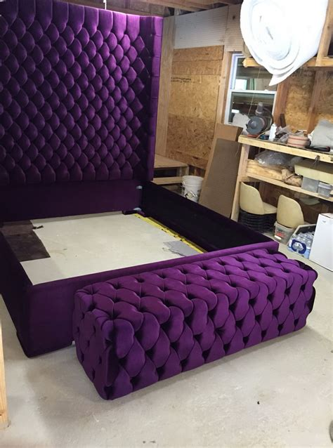 bed frame with soft headboard extra tall tufted headboard king home design ideas