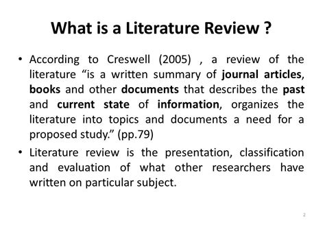 what is literature importance of literature review ppt