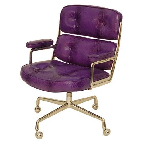 purple desk chair home office chic