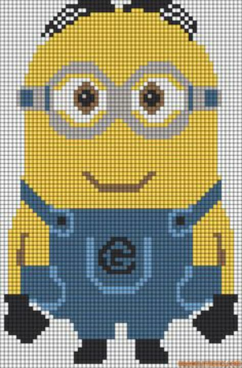 knitting pattern minion despicable me minion pixel art by kyle pritchard we heart it