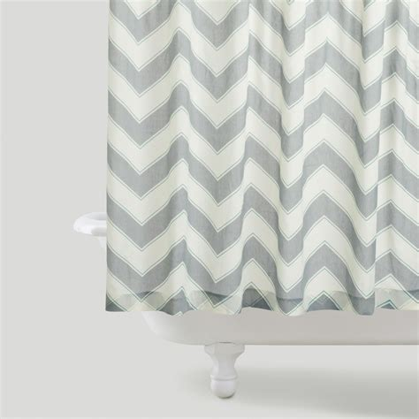 chevron grey shower curtain chevron shower curtain world market