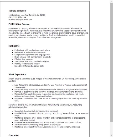administrative assistant resume objective sle description for administrative assistant for resume