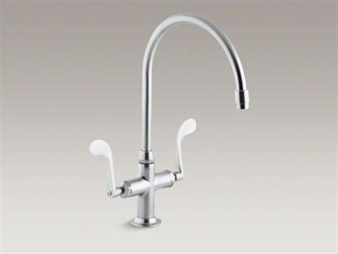 kohler essex kitchen faucet kohler essex r single kitchen sink faucet with 9 quot gooseneck spout contemporary kitchen