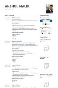 Visual Basic Programmer Sle Resume by D 233 Veloppeur Php Exemple De Cv Base De Donn 233 Es Des Cv De Visualcv