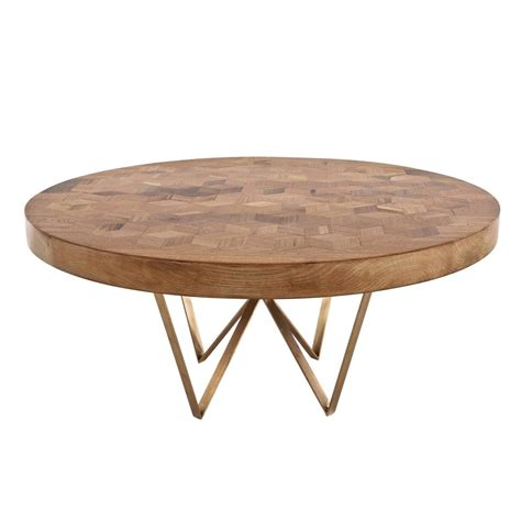 maurits marquetry table in reclaimed oak from