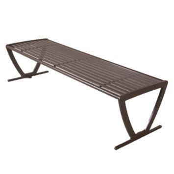 backless metal bench ultraplay augusta outdoor backless bench 94n hs6