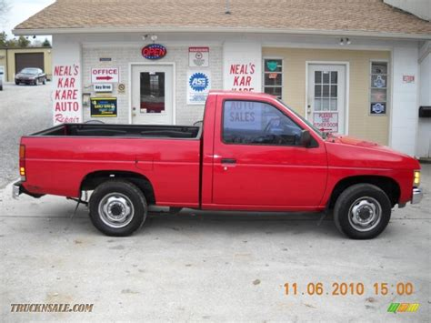 gray nissan truck 1991 nissan hardbody truck regular cab in aztec red photo