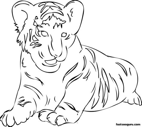 printable tiger coloring pages for kids printable
