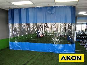 Curtain And Valance Track Industrial Vinyl Curtains Akon Curtain And Dividers