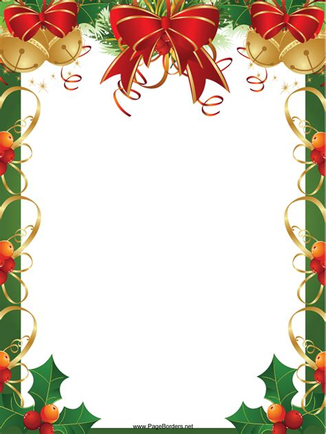 printable xmas borders formats pdf jpg png backgrounds pinterest