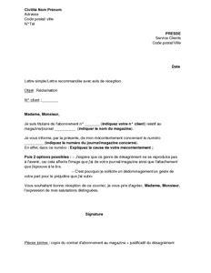 Free Mobile Lettre De Réclamation Exemple Gratuit De Lettre R 233 Clamation Concernant Qualit 233 Un Journal Magazine