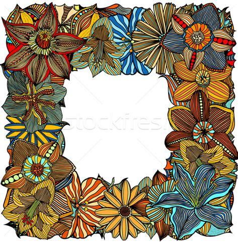 why doodle flowers doodle 183 fleurs 183 ethniques 183 floral 183 cadre
