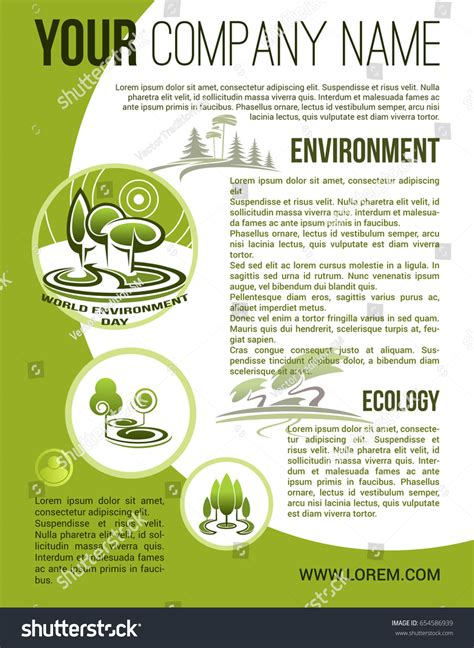 design for environment companies nature ecology poster eco green company 스톡 벡터 654586939