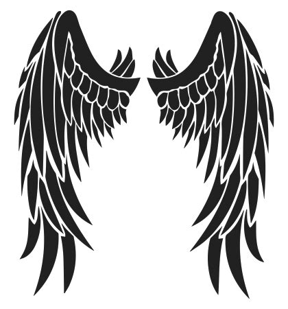 angel wing tribal tattoos wings design free black tribal