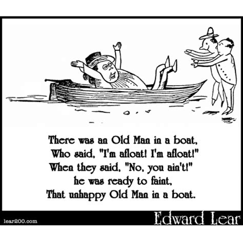 old boat poem there was an old man in a boat english poetry