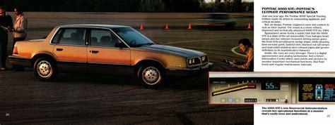 old car owners manuals 1986 pontiac 1000 on board diagnostic system directory index pontiac 1984 pontiac 1984 pontiac full line brochure