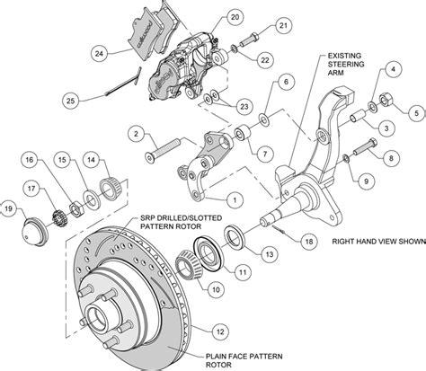 libro brcke wilwood disc brake kit front 58 68 ford mercury 11 quot drilled rotors black caliper ebay