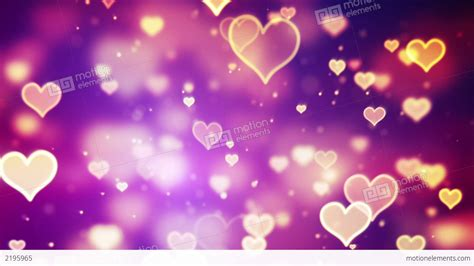 hearts background shining hearts bokeh loopable background stock