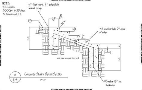 concrete stair section gordon lemmel project portfolio on behance