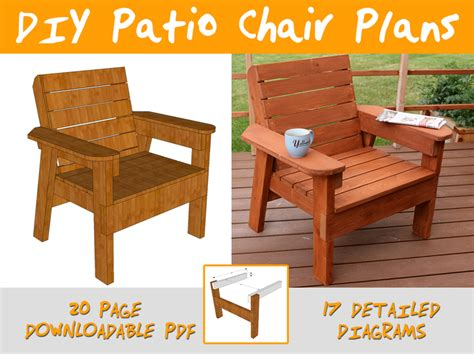 Diy Patio Chair Plans And Tutorial Step By Step Videos Wood Patio Chair Plans